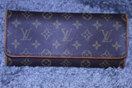 RRP £1250 Louis Vuitton Gm Twin Brown Monogram Coated Canvas Vachetta Luxury Shoulder Bag With