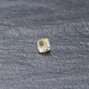 RRP £5,250 Round Cornered Rectangular Modified Brilliant 0.90 Carat Natural Fancy Light Yellow