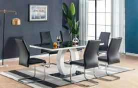 RRP £100 - Boxed New 'Pescara' Black Dining Chair