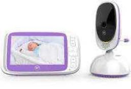 """RRP £110 Boxed Bt Video Baby Monitor 6000 With 5"""" Colour Screen And Remote Control Camera"""