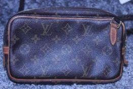 RRP £1,080 Louis Vuitton Marly Bandouliere Shoulder Bag, Brown Monogram Coated Canvas, 22x12x4.