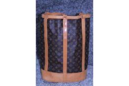 RRP £1,500 Louis Vuitton Randonnee Shoulder Bag, Brown Coated Canvas Monogram, 33x43x16cm (
