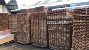 RRP £10 Each. Approx 65 Open Slated Timber Decks 1340mm X 800mm X 22mm. Perfect For Pallet Racking