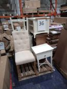 RRP £1000 - Assorted Assembled Furniture Including Chairs, Tv Stand And Sink Cabinet