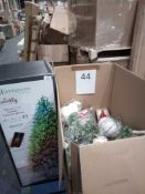 RRP £1000 - Christmas Tree And Assorted Decorations By John Lewis