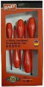 RRP £200 Lot To Contain 5 Boxed 5 Piece Insulated Screwdriver Set