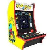 RRP £250 Lot To Contain Pac-Man Arcade 1Up Gaming Entertainment Machine