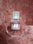 RRP £95 Unboxed 100Ml Tester Bottle Of Chanel Chance Eau Tendre Eau De Toilette Spray Ex-Display
