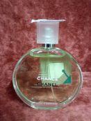 RRP £95 Unboxed 100Ml Tester Bottle Of Chanel Chance Eau Fraiche Eau De Toilette Spray Ex-Display