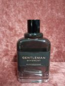 RRP £80 Unboxed 100Ml Tester Bottle Of Givenchy Gentleman Eau De Parfum Boisee Ex Display