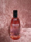RRP £75 Unboxed 125Ml Tester Bottle Of Dior Fahrenheit Cologne Spray Ex-Display