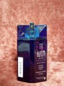 RRP £65 Unboxed 100Ml Tester Bottle Of Mugler Alien Man Fusion Edt Spray Ex-Display