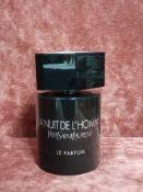 RRP £90 Unboxed 100Ml Tester Bottle Of Yves Saint Laurent La Nuit De L'Homme Eau De Parfum Spray Ex-