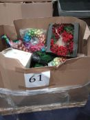RRP £1000 - Pallet To Contain Assorted Christmas Decorations From John Lewis Including Wreaths, Led