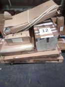 RRP £1000 - Pallet To Contain Flat Pack Furniture In Part Lots Including Computer Desk, Coffee Table