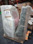 RRP £1000 - Pallet To Contain 2 Swoon Bagged Part Lot Corner Designer Sofas In Assorted Colours