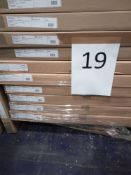 RRP £2700 - Pallet To Contain 9 White Display Cabinets From Trend Team Furniture