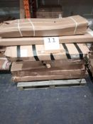 RRP £1000 - Pallet To Contain Assorted Flat Pack Furniture In Part Lots Including Shelving Units, Co