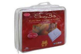 Combined RRP £145 Lot To Contain 2 Bagged And Zipped Sleeping Beauty Electric Under Blankets