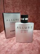 RRP £90 Boxed 100Ml Bottle Of Chanel Paris Allure Homme Sport Eau De Toilette Spray (Retail Box)
