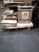 RRP £1000 - Pallet To Contain Assorted Flat Pack Furniture In Part Lots Including Tv Stand, Table