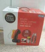 RRP £110 Lot To Contain Boxed Nescafe Dolce Gusto Delonghi Colours Travel Kit