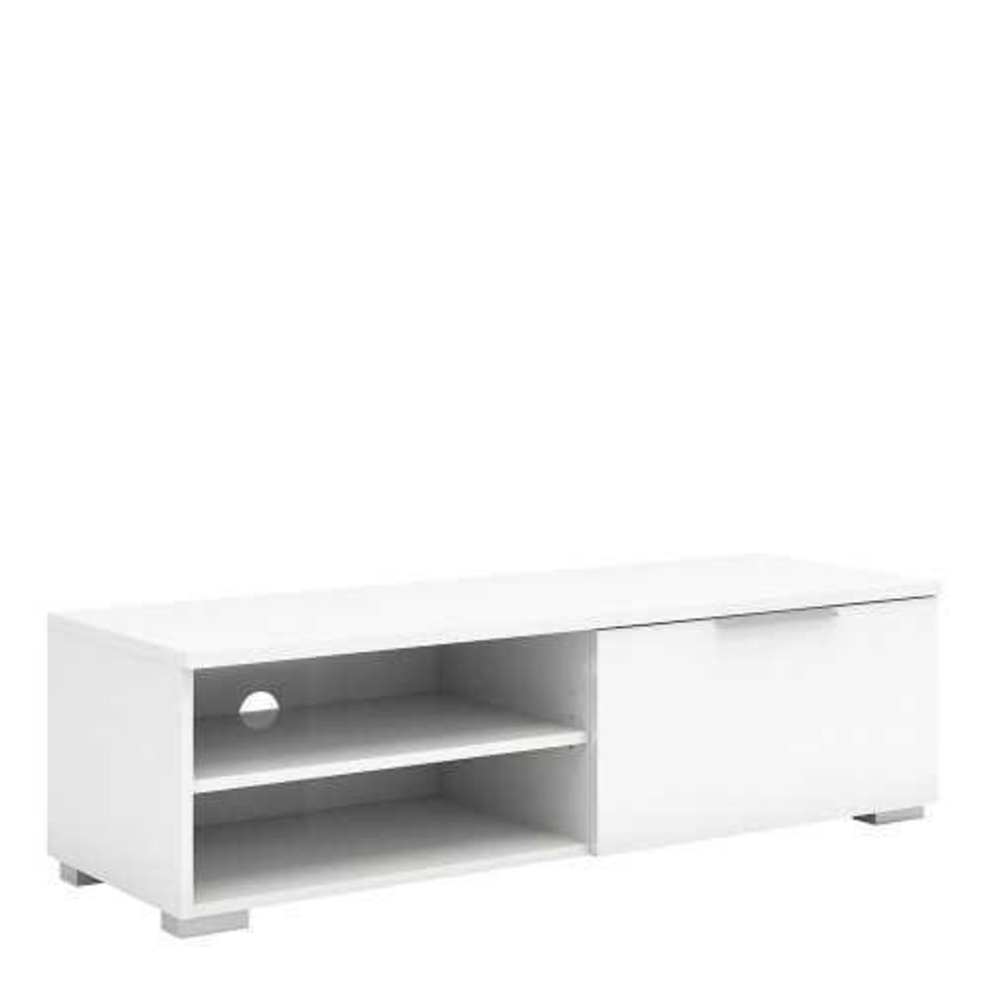 RRP £200 - New Boxed 'Mikado' Television Unit In White High Gloss