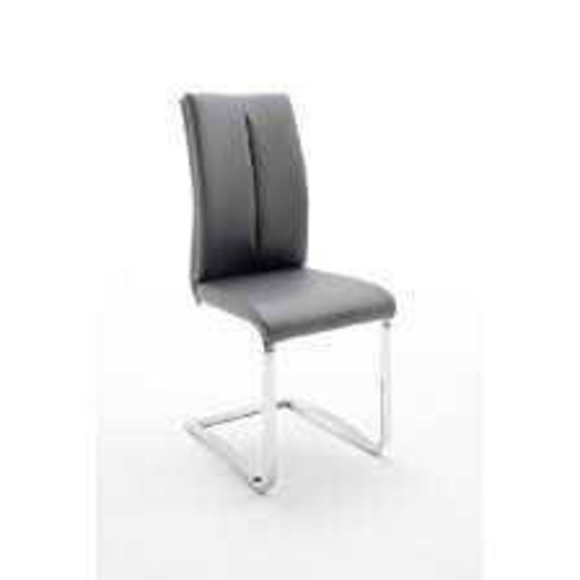 RRP £300 - Boxed 3 'Tavis' Grey Dining Chairs (Appraisals Available On Request) (Pictures For