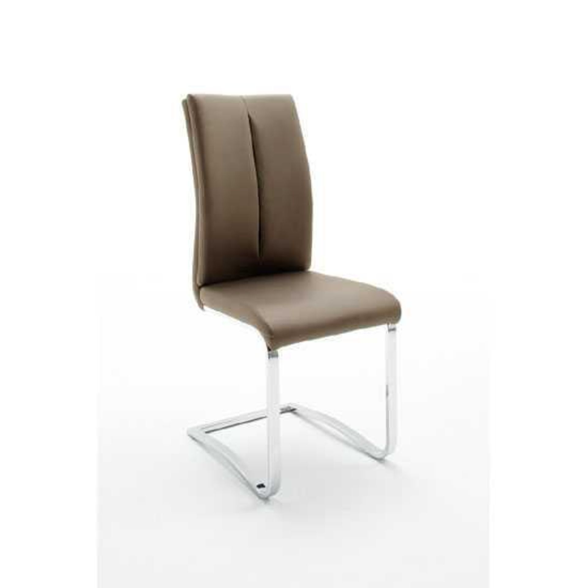 RRP £200 - Boxed 2 'Tavis' Cappuccino Dining Chairs (Appraisals Available On Request) (Pictures