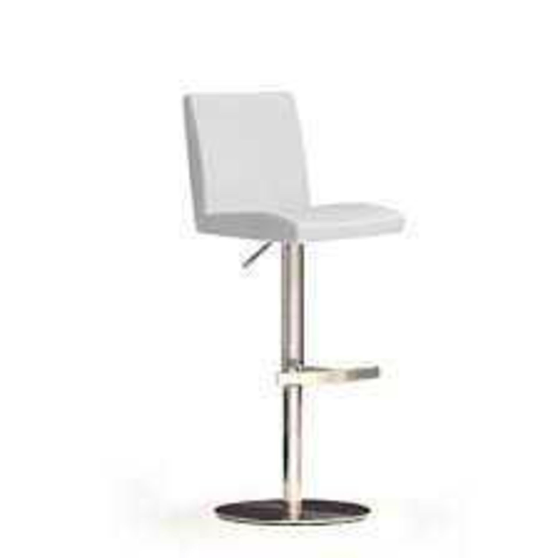 RRP £100 - Boxed 'Lopes' Barstool In White Faux Leather With Chrome Base (Appraisals Available On