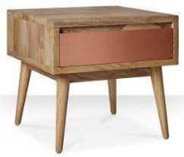 RRP £200 Boxed Swoon Wooden Bedside Table