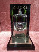 RRP £75 Unboxed 90 Ml Tester Bottle Of Gucci Guilty Platinum Eau De Toilette Spray Ex-Display