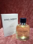 RRP £75 Boxed 125Ml Tester Bottle Of Dolce And Gabbana Pour Homme Eau De Toilette Spray