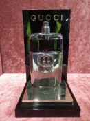 RRP £75 Unboxed 90 Ml Tester Bottle Of Gucci Guilty Platinum Eau De Toilette Spray Ex-Display