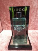 RRP £70 Unboxed 90Ml Tester Bottle Of Gucci Guilty Black Eau De Toilette Spray Ex-Display