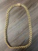 RRP £21,450 Cuban Link Curb Chain 14ct Yellow Gold (Weight 247g) 29 Diamond .775ct Diamonds Set