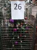 RRP £250 Cage To Contain Ex Display Debenhams Designer Christmas Tree With Assorted Christmas Bauble