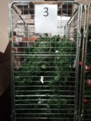 RRP £300 Cage To Include Assortment Of Debenhams Display Christmas Trees