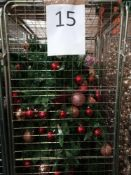 RRP £350 Cage To Include Ex Display Debenhams Designer Christmas Trees With Assorted Designer Bauble