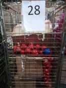 RRP £300 Cage To Contain Assorted Ex Display Debenhams Christmas Tree With Assorted Christmas Decora