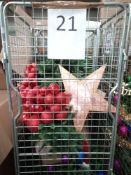 RRP £300 Cage To Contain Designer Ex Display Debenhams Christmass Tree With Assorted Christmas Decor