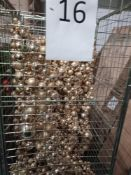 RRP £250 Cage To Include Designer Gold Ceiling Or Wall Drop Down Bauble Decorations