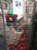 RRP £300 Cage To Contain A Large Assortment Of Top Range Christmas Items To Include Tree And House D