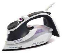 Combined RRP £150 Lot To Contain Boxed Morphy Richards Comfi Grip Iron & Boxed Rowenta Focus Steam I