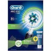 RRP £180 To Contain 3 Boxed Oral B Pro 650 Cross Action Toothbrushes