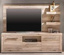 RRP £100 - New Boxed 'Passat' Sandoak Television Wall Panel (Appraisals Available On Request) (