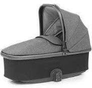 RRP £170 Boxed John Lewis Oyster 3 Carrycot In Fabric Colour Mercury