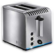 Combined RRP £135 Lot To Contain Boxed Russell Hobbs Buckingham Toaster & Tefal Fast And Delicious