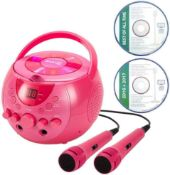 Combined RRP £140 Lot To Contain Two Boxed Rockjam Karaoke Party Cd Players