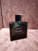 RRP £85 Unboxed 100Ml Tester Bottle Of Chanel Paris Bleu De Chanel Eau De Toilette Spray Ex-Display